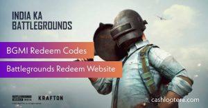 BGMI Redeem Codes