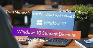 Windows 10 Student Discount